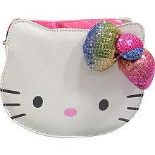 Hello Kitty Handbag   White Faux Leather with Sequin Bow (Colors