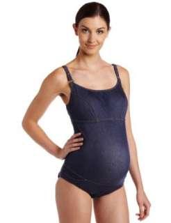 PEZ DOR Womens Maternity Special One Piece Denim Swimwear Clothing