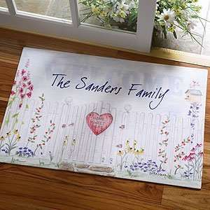 Personalized Welcome Mats   Home Sweet Home Family Name