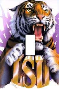 LSU TIGERS Single Light Switch Cover