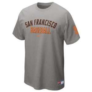 San Francisco Giants Grey Heather Nike 2012 Away Practice