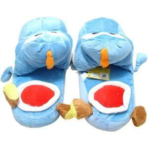 Super Mario Brothers Yoshi Blue Ver. Slippers Plush Toys