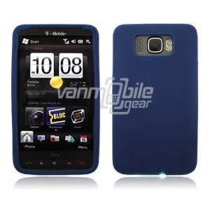 Navy Blue Soft Silicone Cover for HTC HD2 (T Mobile)