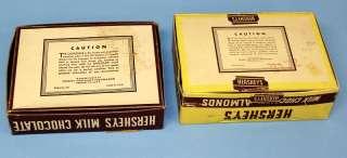 Hersheys Milk Chocolate Candy Bar Boxes Plain/Almonds aa76