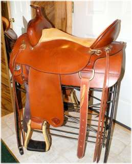 Hereford Tex Tan Flex Tree Western Trail Saddle, 17.5 Inch, Highback