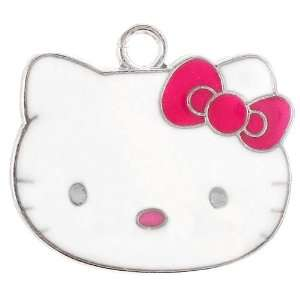 12X DIY Jewelry Making Hello Kitty alloy enamel charm w