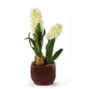 Hyacinth w/Glazed Pot Silk Flower Arrangement  Home