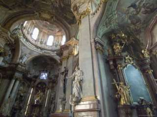 Interior of St. Nicholas Church, Mala Strana, Prague, Czech Republic