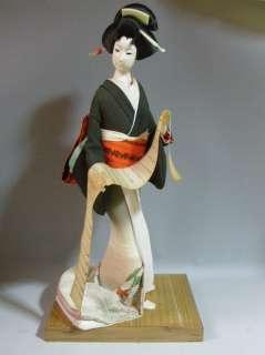 Japanese Vintage Kimono Geisha Doll 43cm / Old Letter
