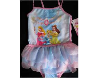 Toddler Disney Princesses Tutu One Piece Ballerina Swimsuits Sz 2T 5T