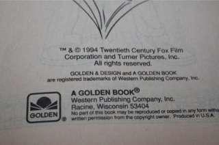 the Pagemaster Big Golden Coloring Activity Book Vintage 1994