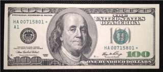 Rare 2006 (A / Boston) $100 Dollar Bill Star Note   GEM Uncirculated