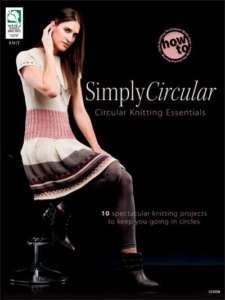 Simply Circular Knitting Patterns Book Knit Sweater NEW