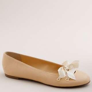 Leatherette lace up ballet flats   ballets   Womens shoes   J.Crew