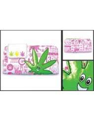 Girls Hinge Wallet   Weed Pot Ganja Marijuana Leaf Smiling Logo Clutch