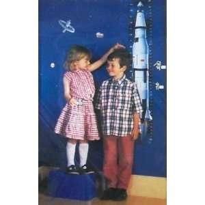 Kids Space Rocket, Astronaut & Spaceship Growth Chart (self adhesive