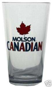 MOLSON Canadian Shaker Pint Glass beer brewery