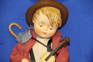 Goebel Signed MI Hummel Little Fiddler Porcelain Doll