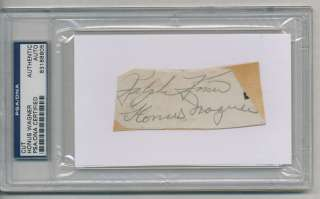HONUS WAGNER SIGNED AUTOGRAPHED PSA DNA AUTO 8805