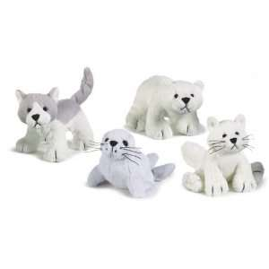 Soft Sports Artic Pals Seal, Fox, Bear and Wolf Set of 4: Toys & Games