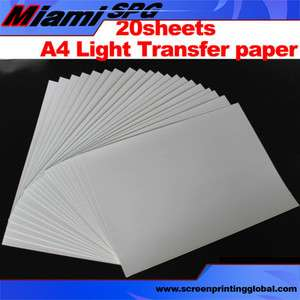 A4 Inkjet T shirt Light Transfer Paper for Heat Press Transfer IRON ON