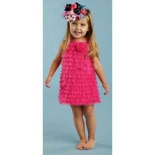 Hot PInk Chiffon Ruffle Dress  Mud Pie Baby Baby & Toddler Clothing