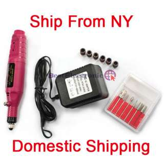 Pen Shape Electric Manicure Nail Art Drill File + 6 Bit
