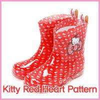 Hello Kitty Rain Boots Kids Girls Shoes Waterproof New