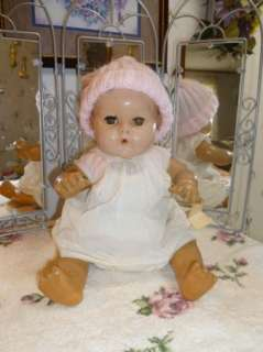 Effanbee DyDee Baby Doll Drink and Wet 1940s Applied Ears 15