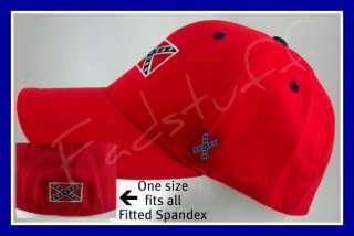 CONFEDERATE Flag HAT Redneck Rebel RED Strech Ball Cap