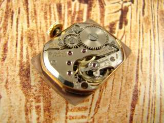 GOLD TONE BULOVA ART DECO MENS DRESS WATCH VINTAGE 1940s FANCY
