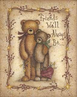Friends Forever Teddy Bears Country Folk Framed Print