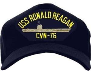 NAVY USS RONALD REAGAN CVN 76 USA MADE HAT CAP