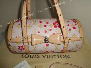 VUITTON CHERRY BLOSSOM CREAM/RED PAPILLON BRAND NEW WITH ALL TAGS