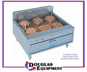 32 Wide Gas Funnel Cake Shallow Fryer Countertop Donut
