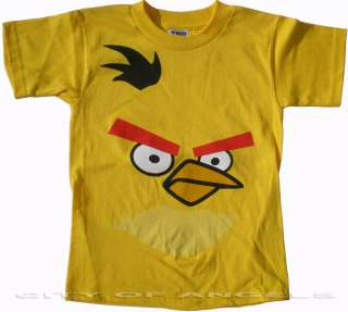 Angry Birds Funny Shirt Kids Yellow Maching Bird