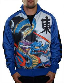 HARDY Christian Audigier Platinum Tiger Tattoo Mens Track Jacket Shirt