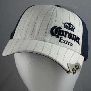 Bill Cap Hat With Built In Bottle Opener Pinstripes NEW #3