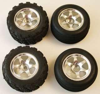 LOSI Mini T RC18 Aluminum Spoke Wheels with Tires Full set of 4 Pro