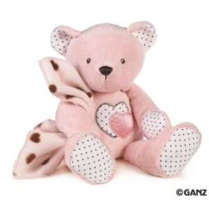 Hearts N Dots Pink Teddy Bear Plush 12 Toys & Games