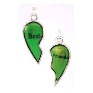 Best Friends Mood Pendant Necklace Charm Spiritual Amulet Womens Men