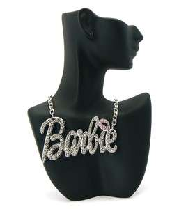 Nicki Minaj Iced Out Crystal  BARBIE Pendant Necklace Large w/18