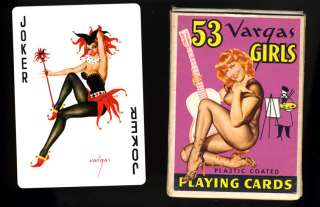 53 VARGAS GIRLS PIN UP PLAYING CARDS IN ORIGINAL BOX UNUSED COMPLETE