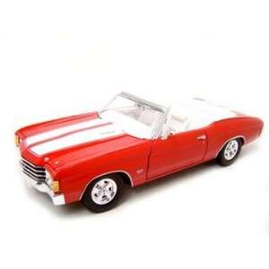 1972 Chevrolet Chevelle SS 454 Red 1/18 scale die cast