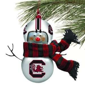 Carolina Blown Glass Snowman Ornament (Set of 2)
