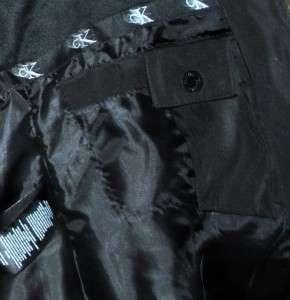 Klein Down Ski Jacket Coat Detachable Faux Fur Hood XXL Black