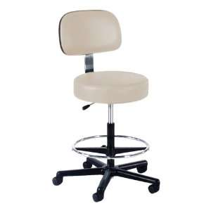 860 Series Lab Stool with Backrest and Single Lever Adjustment Black
