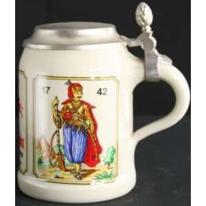 German Barware Ceramic Beer Stein WS Trenck der Pandur