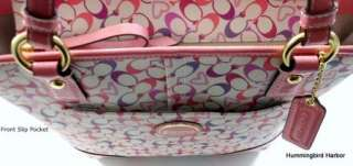 NWT Coach 18426 Signature Bias Heart Tote Purse Bag Authentic
