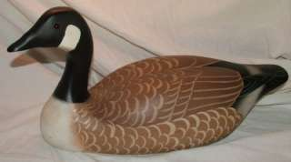 Canadian Goose Handpainted Hand Made Wood Wooden Folk Art Duck Decoy
